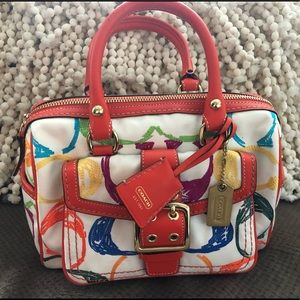 Coach Scribble Stitch Satchel Like New Coach 1857
